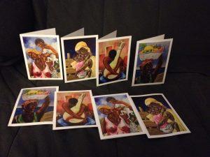 Cartes de vœux du peintre Colombien Ruben Crespo