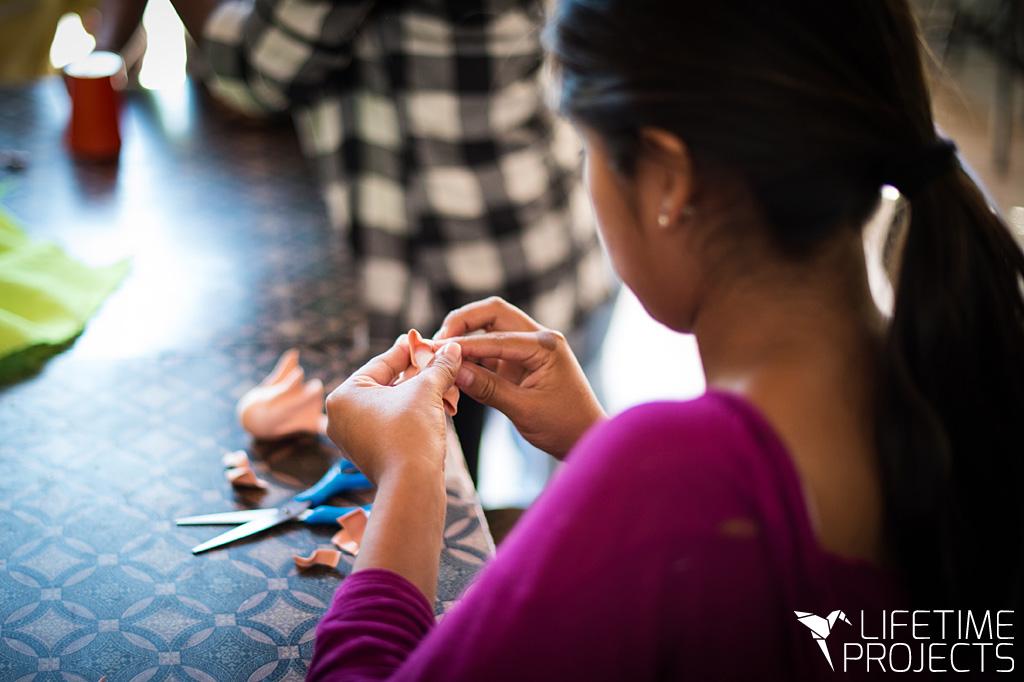 Lifetime Projects : illustration du parrainage du projet de création de mode de Liliana en Bolivie
