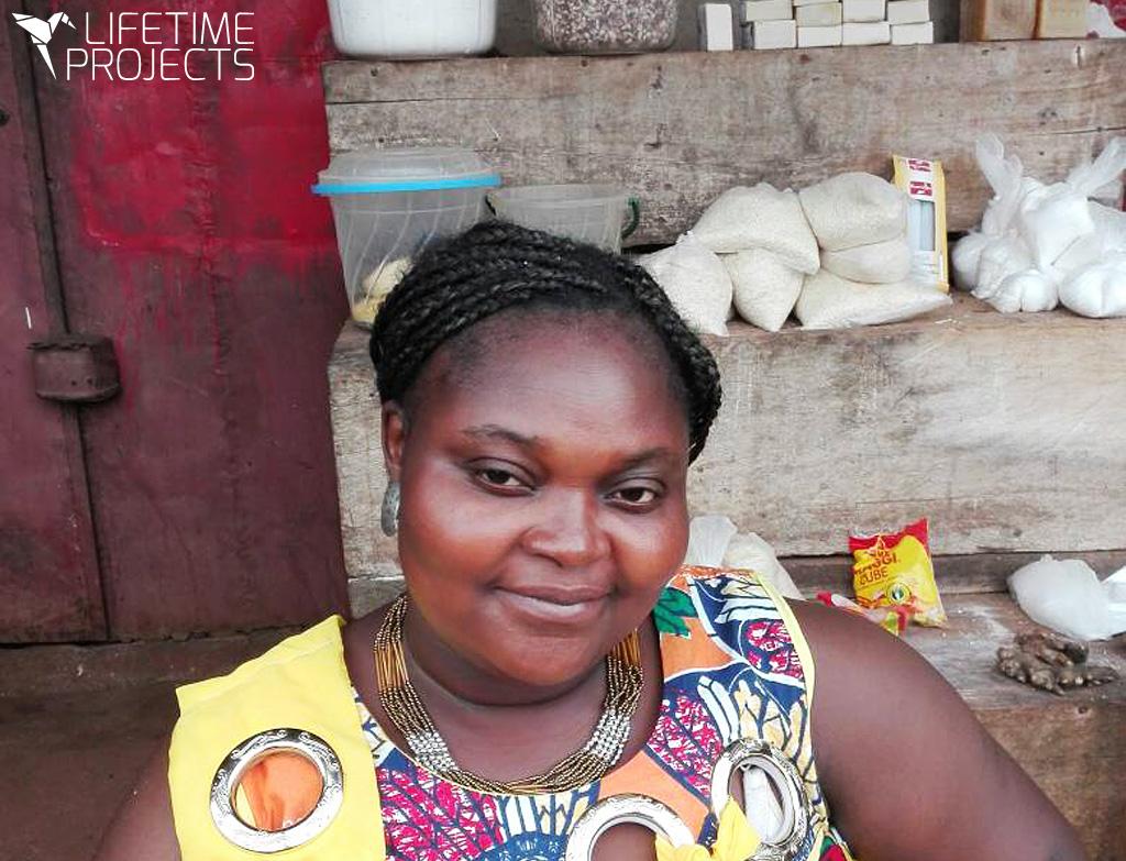 Lifetime Projects : illustration du parrainage du projet d'épicerie de Mama Niki au Cameroun