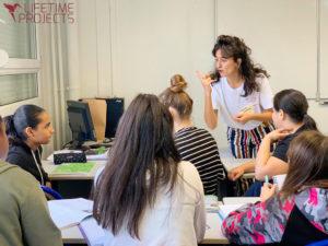 Photo illustrant l'animation au collège Twinger (Strasbourg) dans le cadre du festival AlimenTERRE, avec LifeTime Projects