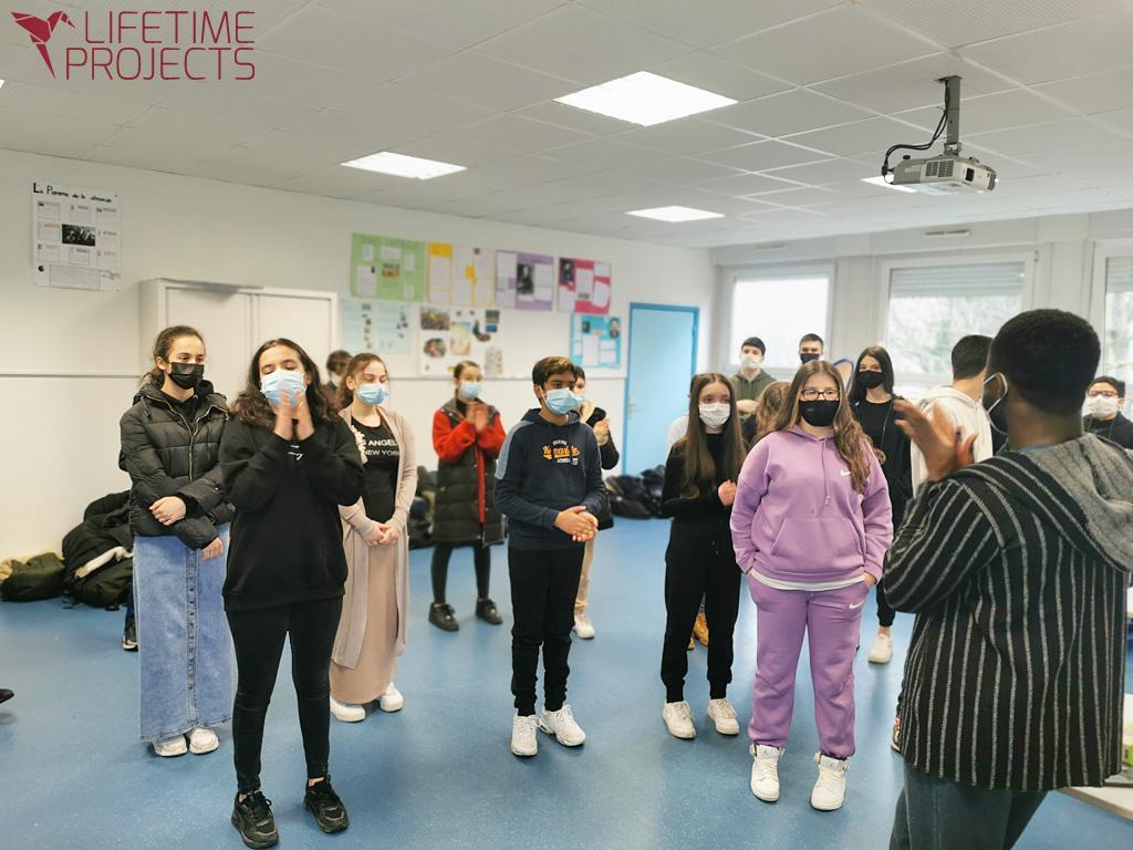 Photo de l'action « De la mémoire à l'engagement citoyen à travers la création artistique », avec LifeTime Projects
